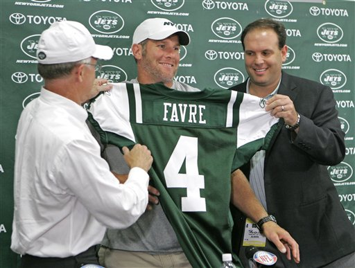 Films Encore: Favre Lands with the Jets