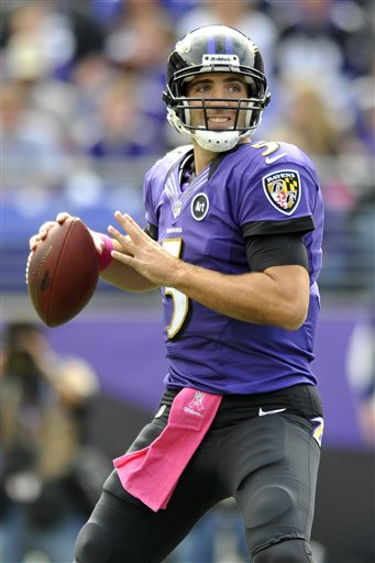 QB Joe Flacco of the Baltimore Ravens.