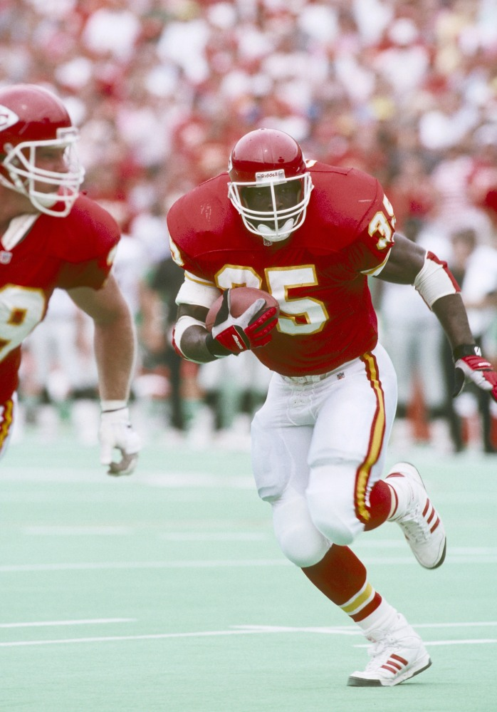 Former RB Christian Okoye of the Kansas City Chiefs.