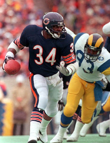 Former RB Walter Payton of the Chicago Bears.
