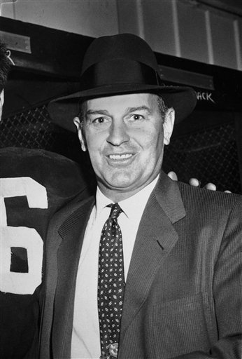 Former coach Paul Brown of the Cleveland Browns.