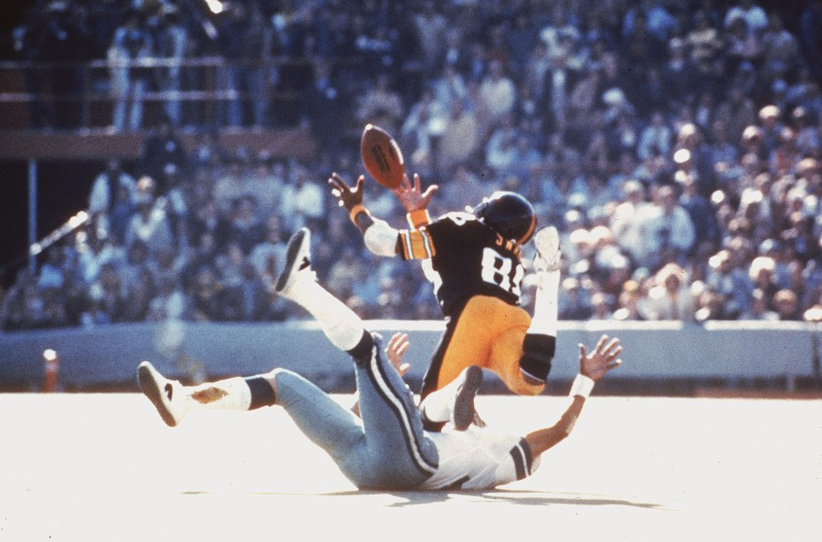 Pittsburgh Steelers' Lynn Swann's diving catch in Super Bowl X.