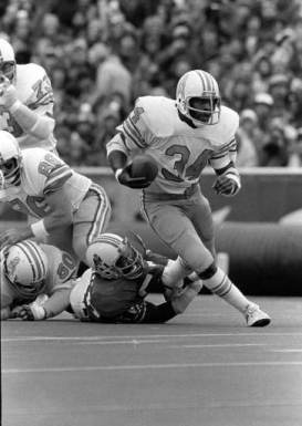 Former RB Earl Campbell of the Houston Oilers.