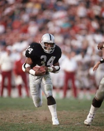 Former RB Bo Jackson of the Los Angeles Raiders.