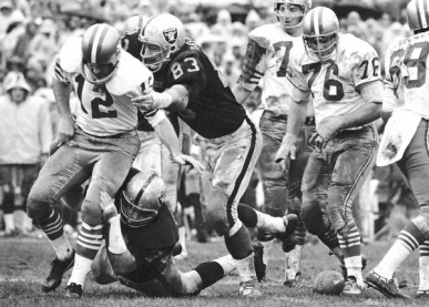 The Oakland Raiders in the 1960's.