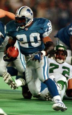 Former RB Barry Sanders of the Detroit Lions.