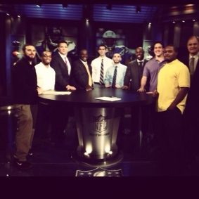 """NFL Playbook"" interns with the Playbook staff."