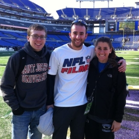 NFL Films' interns at a Ravens' home game.