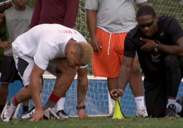 Hey Rookie: Tyrann Mathieu works out with PatrickPeterson