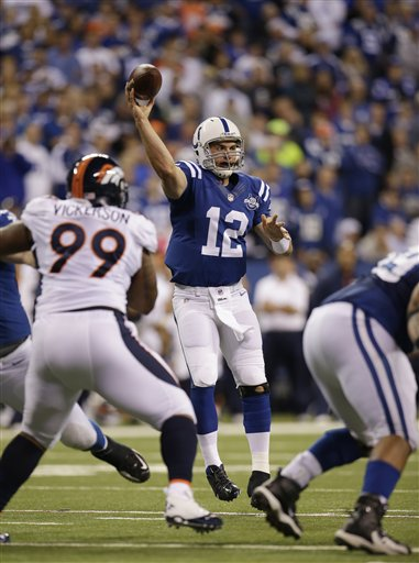 Andrew Luck outshone Peyton Manning in the house that Peyton built during a classic contest between the old and new.