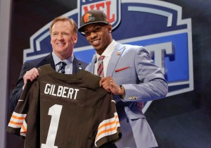 The Cleveland Browns surprised the league by taking Oklahoma State cornerback Justin Gilbert with the eighth overall pick.