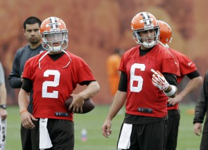 Brian Hoyer, Johnny Manziel
