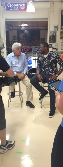"""Behind the scenes of """"NFL Films Presents,"""" with Jay Leno and PatrickPeterson"""
