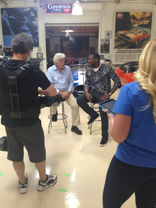 "Behind the scenes of ""NFL Films Presents,"" with Jay Leno and Patrick Peterson"
