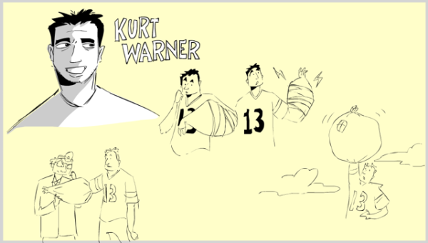 """NFL Films Drawn"" – Scorpion King starring Kurt Warner"