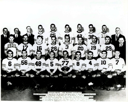 The 1934 Chicago Bears