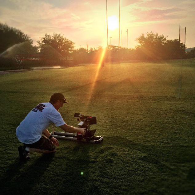 The crew is used to early mornings and late nights during Hard Knocks season.