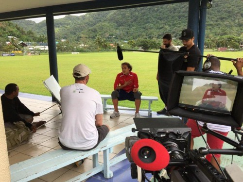 Behind-The-Scenes with Troy Polamalu in American Samoa