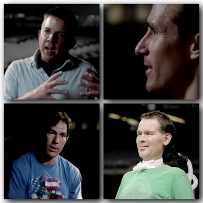 Top left to right: Head Coach Sean Payton, Quarterback Drew Brees, Bottom left to right: Former Saints Linebacker Scott Fujita, & Former Saints Safety Steve Gleason