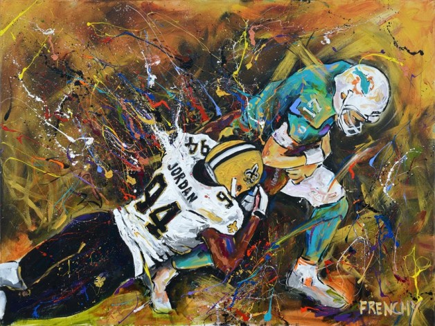 Frenchy's live painting from New Orleans vs. Miami in 2013.