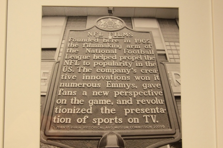 NFL Films Plaque